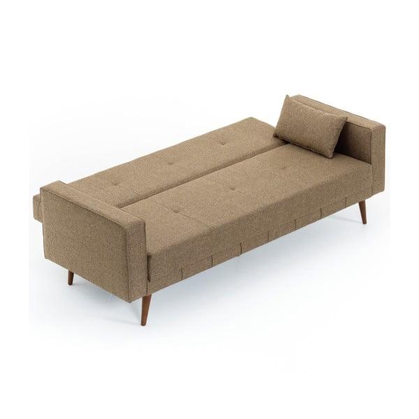 Brązowa sofa rozkładana Balcab Home Ivonne