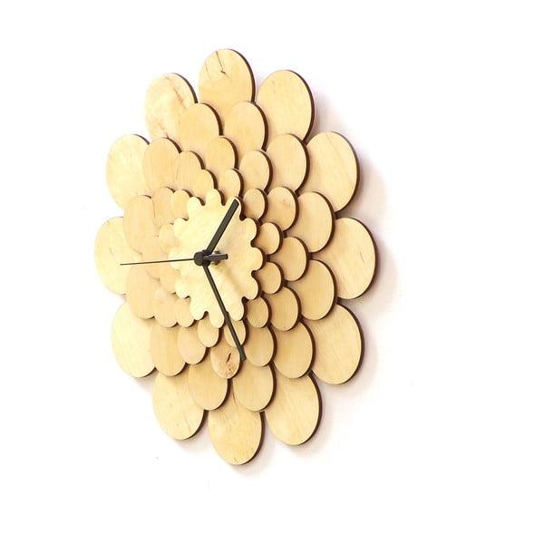 Zegar drewniany Flower, 29 cm