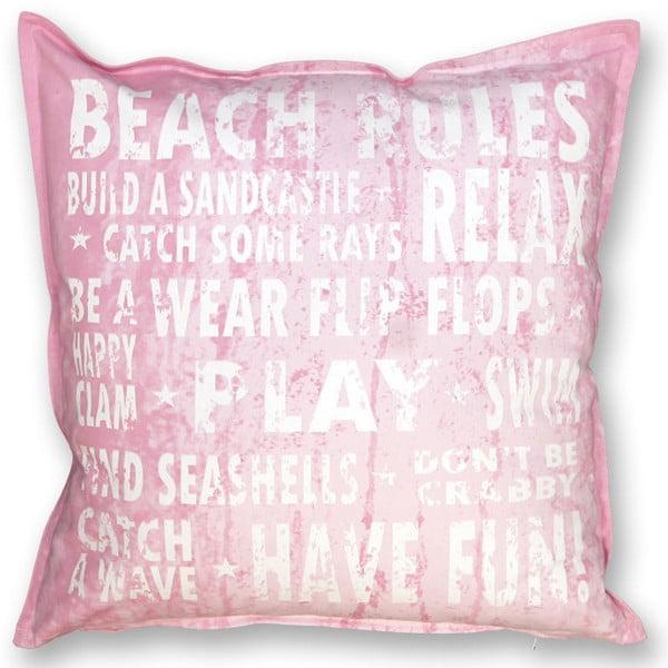 Poduszka Beach 45x45 cm, różowa