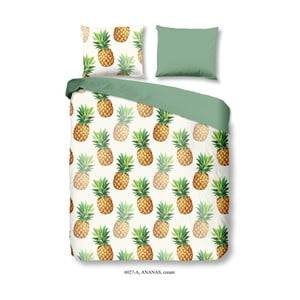 Pościel bawełniana z nadrukiem Good Morning Ananas, 200x200 cm