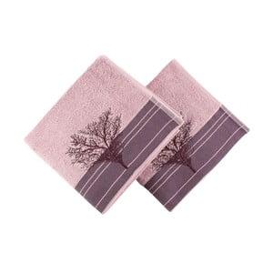 Zestaw 2 ręczników Infinity Maroon, 50x90 cm