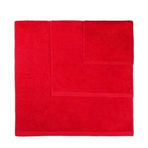 Komplet 3 czerwonych ręczników Artex Alfa
