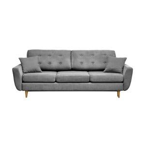 Jasnoszara   trzyosobowa sofa rozkładana Cosmopolitan design Barcelona