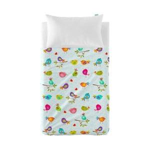 Zestaw prześcieradła i poszewki na poduszkę Little W Happy Spring, 120x180 cm