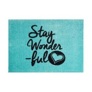 Niebieska wycieraczka Hans Home StateMat Stay Wonderful, 50x75 cm