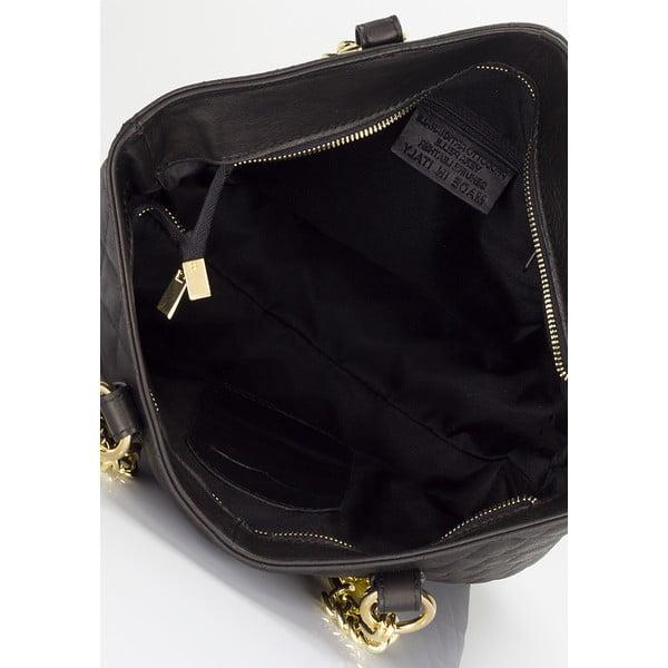 Czarna torebka skórzana Minardi Liberata