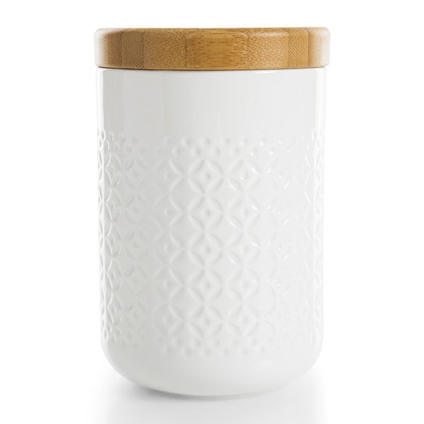 Pojemnik porcelanowy z bambusową pokrywką Bambum Hiden