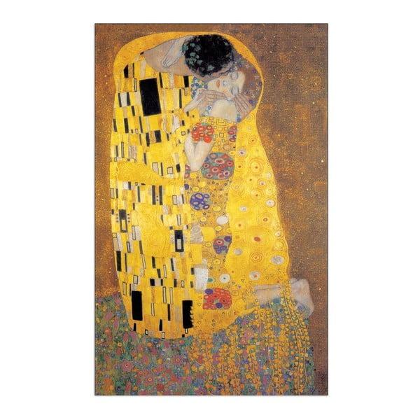 Obraz Gustav Klimt - Pocałunek, 60x90 cm