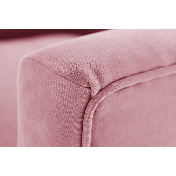 Pastelowy różowy fotel Jalouse Maison Kylie