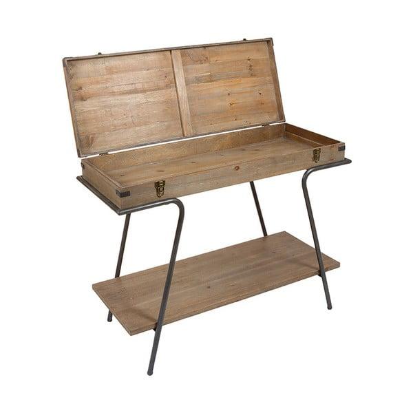 Konsola ze schowkiem i elementami z drewna jodłowego Santiago Pons Industry