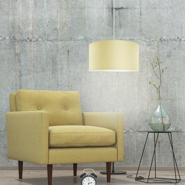 Kremowa lampa wisząca Tres, ⌀ 36 cm