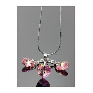Komplet Swarovski Elements Little Hearts Rosa