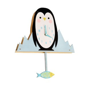 Zegar drewniany Rex London Milo The Penguin