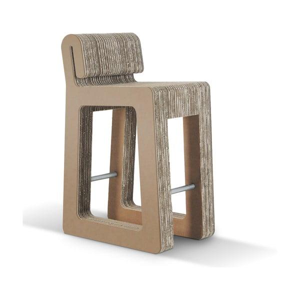 Barowe kartonowe krzesło Hook Stool Natural