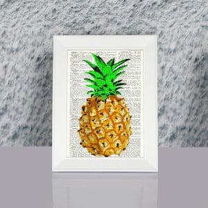 Obraz w ramie Dekorjinal Pouff Ananas, 23x17cm