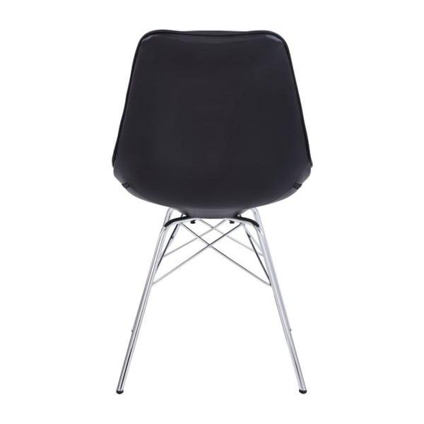 Zestaw 2 czarnych krzeseł Støraa Shirley