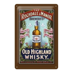 Tabliczka blaszana Whisky, 20x30 cm