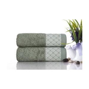 Zestaw 2 ręczników Bamboo Polo Green, 50x90 cm