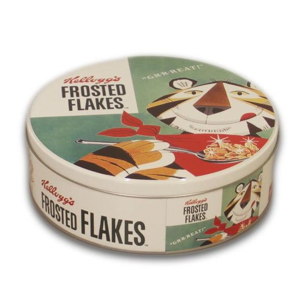 Okrągły pojemnik metalowy Frosted Flakes, 7x20 cm