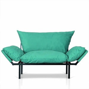 Turkusowa sofa Kate Louise Quinny