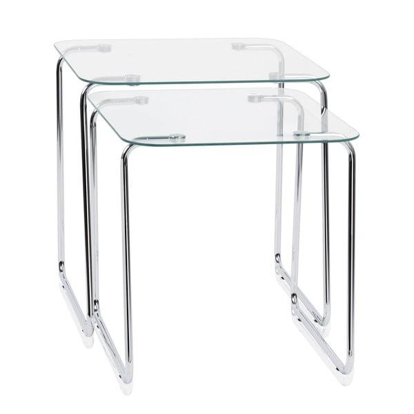 Zestaw 2 stolików Glass Tables