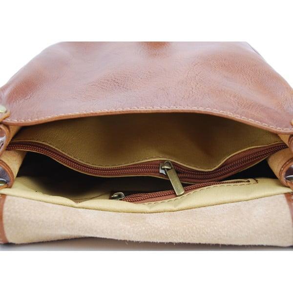 Skórzana torebka Amarette Cognac