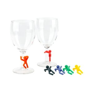 Komplet 6 znaczników na szklanki Hombre