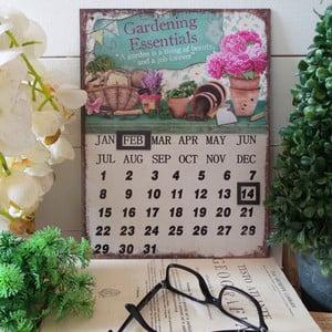 Metalowy kalendarz stołowy Gardening Essentials