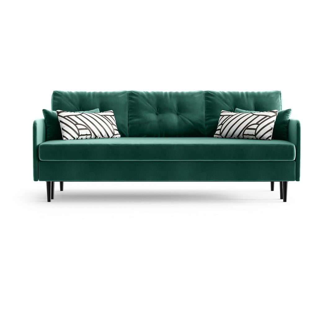 Zielona rozkładana sofa Daniel Hechter Home Memphis