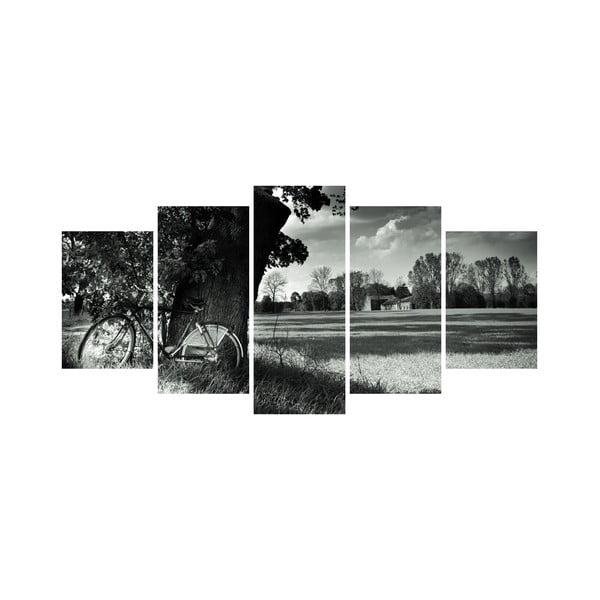 Wieloczęściowy obraz Black&White no. 68, 100x50 cm