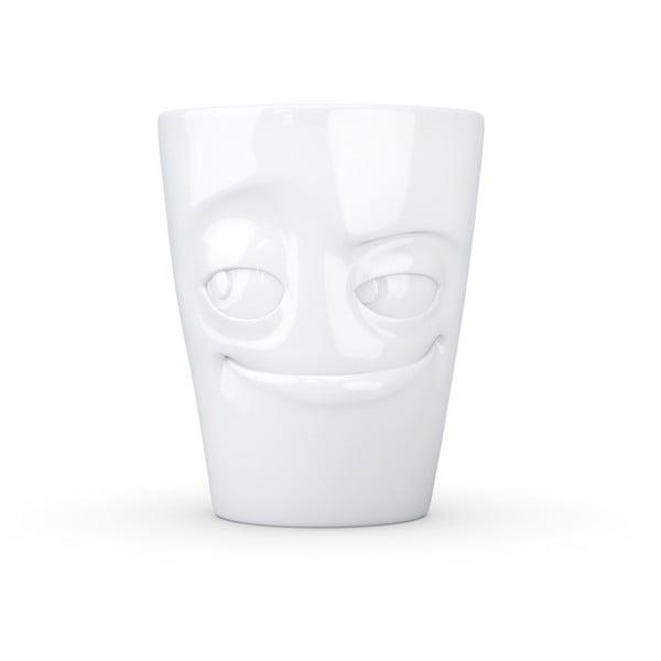 Biały figlarny porcelanowy kubek z uchem 58products