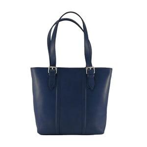 Niebieska torebka skórzana Chicca Borse Fiona