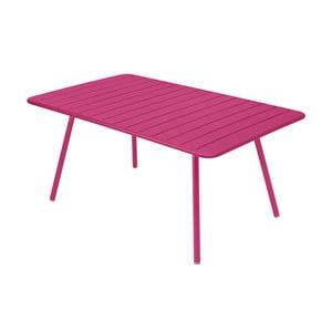 Różowy stół metalowy Fermob Luxembourg