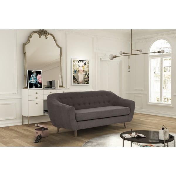 Kasztanowa sofa trzyosobowa Jalouse Maison Vicky