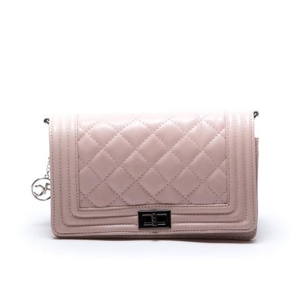Skórzana torebka Fiola, różowa