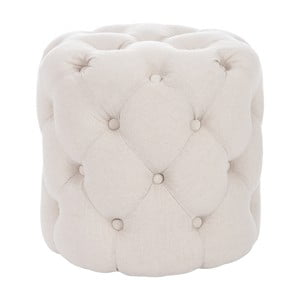 Puf Hassock Button, beżowy