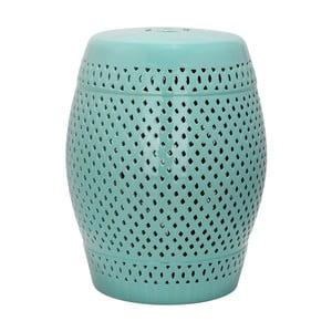 Turkusowy stolik ceramiczny Safavieh Diamond Blue