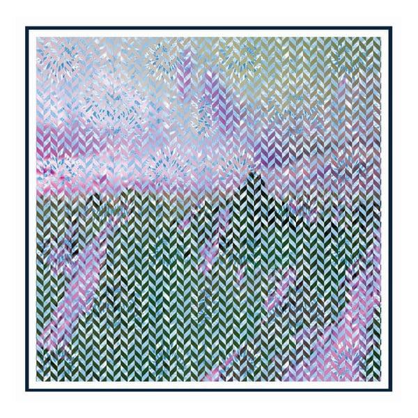 Chusta jedwabna Moonstar, 130x130 cm