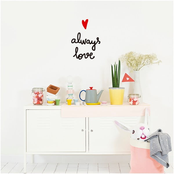 Naklejka dekoracyjna na ścianę Always Love