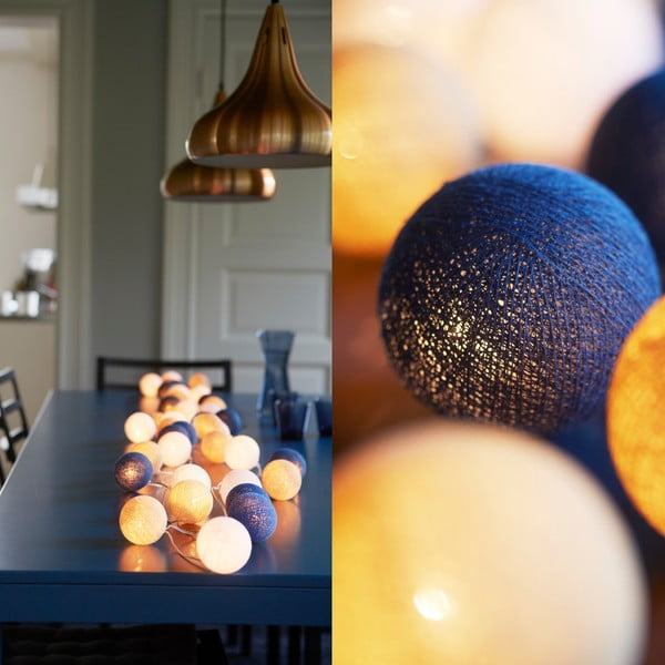 Świecący łańcuch Irislights Nordic Blue, 10 lampek