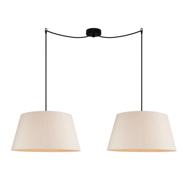 Kremowa lampa wisząca Sotto Luce KAMI Elementary L 2S