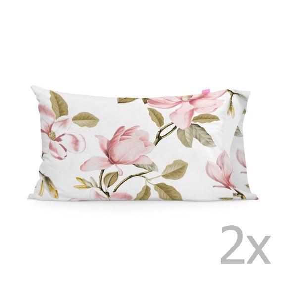 Zestaw 2 bawełnianych poszewek na poduszki Happy Friday Magnolia,50x80cm