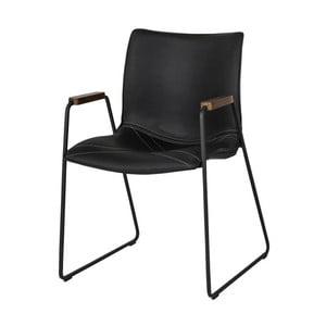Czarne krzesło Canett Johan