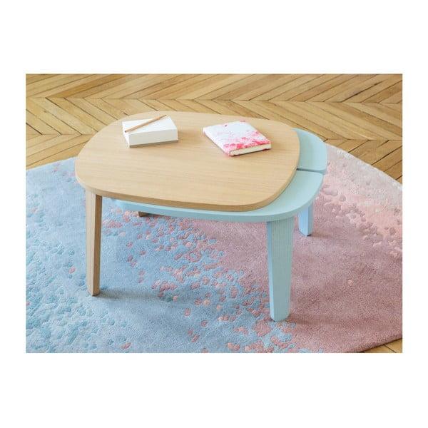 Różowo-niebieski dywan z czystej wełny HARTÔ Aube, 150x229 cm