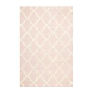 Dywan wełniany Ava Baby Pink, 152x243 cm