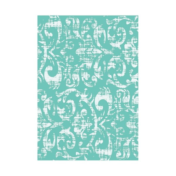 Winylowy dywan Wallpaper Turquesa, 133x200 cm