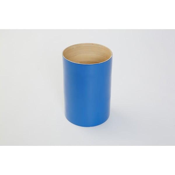 Pojemnik bambusowy na przybory kuchenne Compactor Bamboo Blue, 18 cm