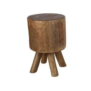 Stołek z drewna tekowego HSM Collection Solid