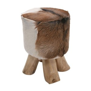 Skórzany stołek Kare Design Flint Stone, ⌀ 35 cm