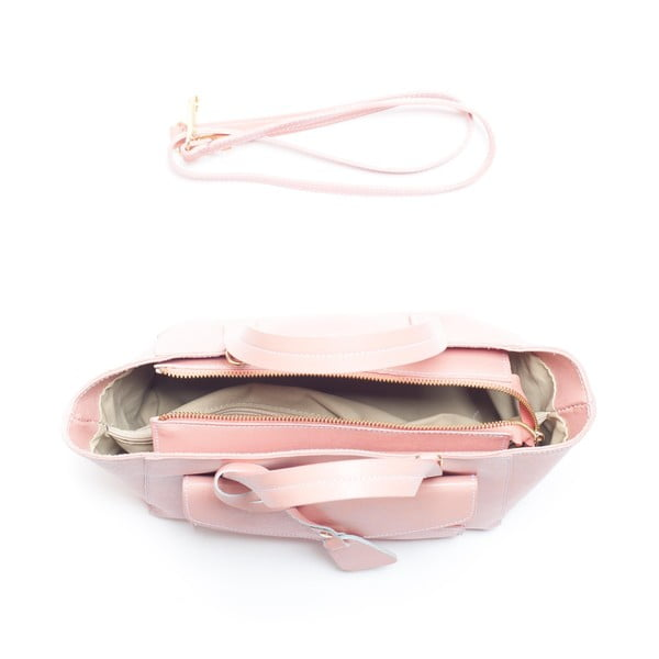 Skórzana torebka Mangotti 447, różowa